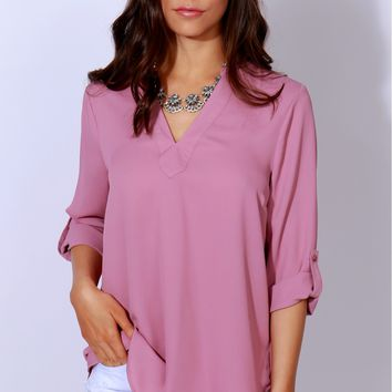 It's Casual Classic Blouse Rose