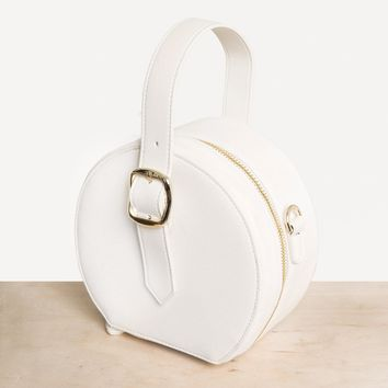 WHITE CIRCLE MINI BAG