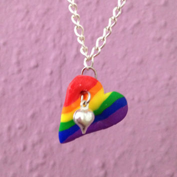 Gay Pride Necklace, Rainbow Necklace