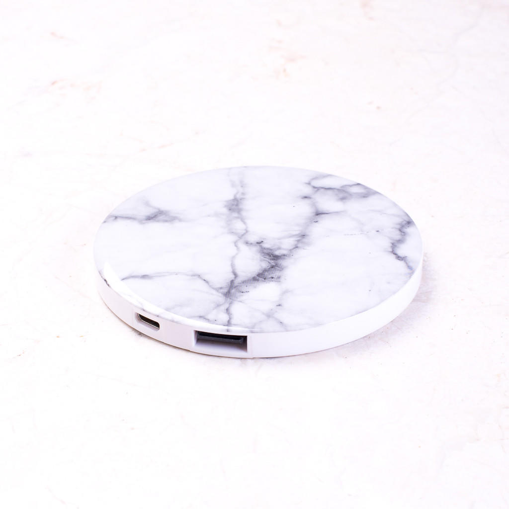 Marble Round Portable Charger Power Bank from Ankit  5a8c33630426