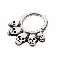 White Brass Skull Septum Jewellery