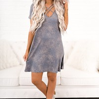 See The Stars Tee Shirt Dress (Blue Wash)