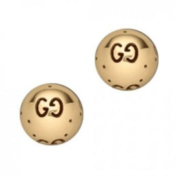 Gucci Icon 18kt Yellow Gold Ball Stud Earrings