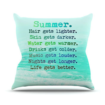 "Monika Strigel ""Summer XXL"" Outdoor Throw Pillow"