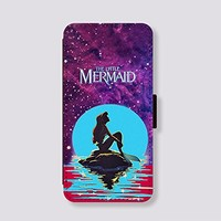 Card Slot Leather for iPhone 5c Case The little mermaid