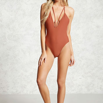 Plunging Halter One-Piece