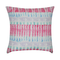 "22"" x 22"" Pink Tie-Dye Decorative Pillow"
