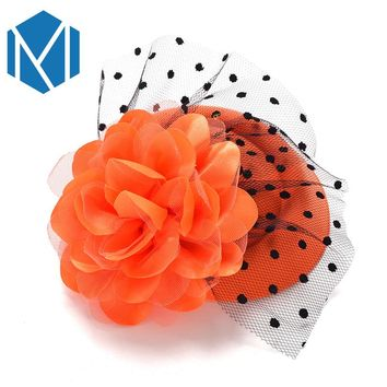 New Arrival Ladies Flower Hat Hairgrip Party Cocktail Top With Rose Dot Veiling Hair Clip Lace Cap Hairpins for Women Best Gift