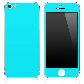 Solid Aqua Blue Skin for the iPhone 3, 4/4s or 5