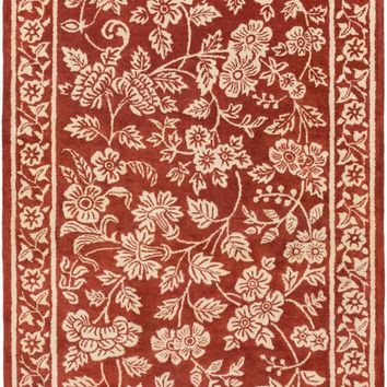 Surya Smithsonian Floral and Paisley Red SMI-2163 Area Rug