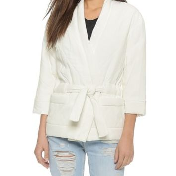 IRO Fuzzy Wrap Jacket