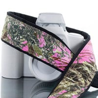 dSLR Camera Strap, Pink Camo, Camouflage, SLR, Canon camera strap, Nikon camera strap, Pentax, Sony etc, Mirrorless camera, 245