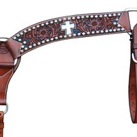 Teskey's Saddle Shop: Teskey's Inlay Cross Breast Collar with Sunspots