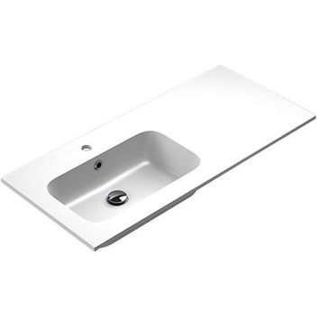 Sonia EVOLVE Washbasin 40 inches Left Single Drop-In Rectangular MX3 Bath Sink