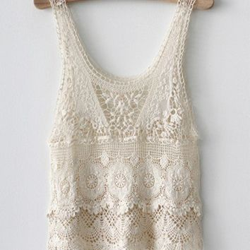 Japanese style crochet lace top 7