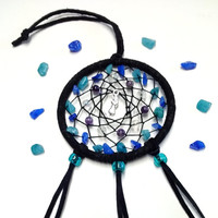 Mermaid and Crystals car dream catcher