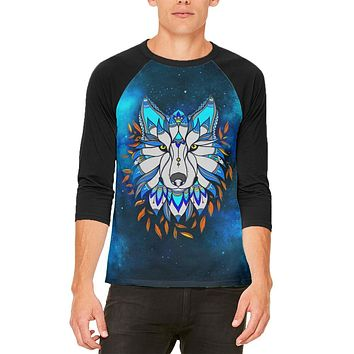 Totem Wolf is my Spirit Animal Mens Raglan T Shirt