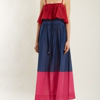 Colour-block cotton and silk-blend midi dress | Diane Von Furstenberg | MATCHESFASHION.COM US