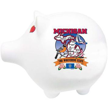 "michigan piggy bank 3"" h x 4"" w pig state map Case of 60"