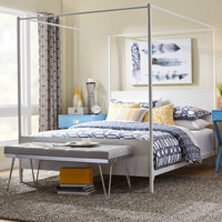 Mercury Row Metal Canopy Bed
