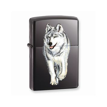 Zippo Wolf Black Ice Lighter - Engravable Personalized Gift Item