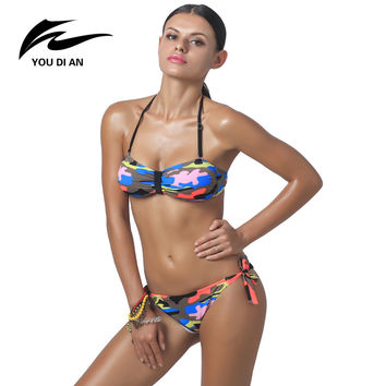 Brazilian Bikini Swimwear 2016 Sexy Bandage Bikini Sets Women Bikini Swimsuit Push Up Low Waist Biquini Beach Wear