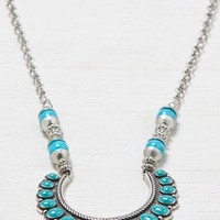 AEO Women's Turquoise Statement Necklace (Silver)