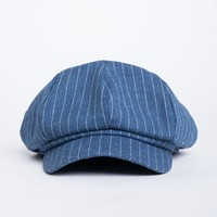 Striped Baker Boy Hat