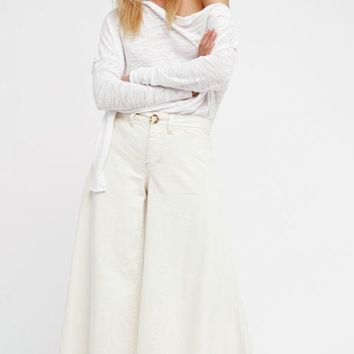 Free People Run Through The Moss Wideleg Pants