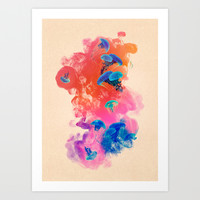 Jellyfish Ink by Pepe Psyche Art Print by Pepe Psyche