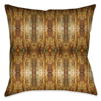 Wet Tree Bark Indoor Decorative Pillow
