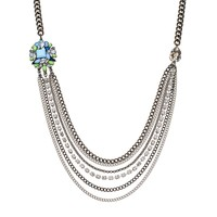 Simply Vera Vera Wang Long Swag Necklace (Blue)