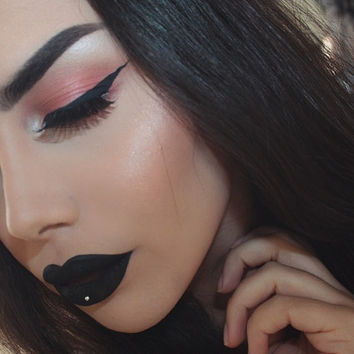 Gothic - BLACK OUT  Matte Black Lipstick