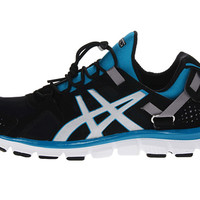ASICS Gel-Synthesis™ Black/Silver/Island Blue - 6pm.com