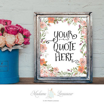 Custom design printable art printable quote personalized art print positive affirmation art print printable quote customized gift idea