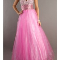WowDresses — Gorgeous Pink Ball Gown Sweetheart Floor Length Prom Dress