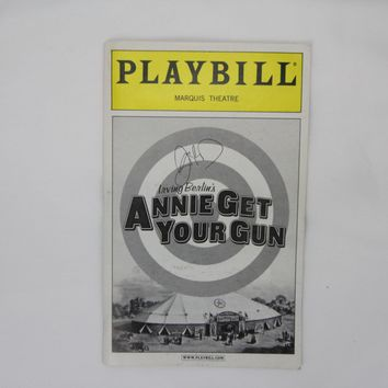 Annie Get Your .... Playbill Signed