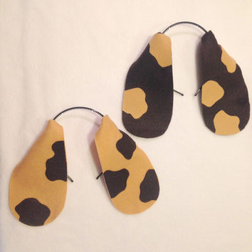 Custom Puppy Dog Ears Headband Floppy with Spots or no spots Basset Hound Beagle Bloodhound Springer Spaniel Dachshund Brown Dalmatian