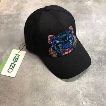 KENZO Embroidery Tiger head Canvas Cap - 3 colors