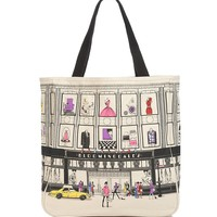 Bloomingdale's Iconic Storefront Canvas Tote | Bloomingdale's