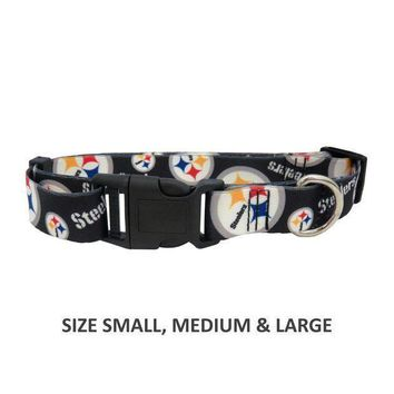 ONETOW Pittsburgh Steelers Pet Nylon Collar - XS