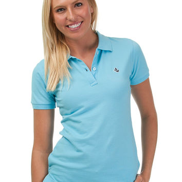 Caribbean Blue Women's Polo Shirt