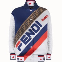 Silk Reversible Bomber Jacket by Fendi