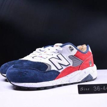 ONETOW cxon new balance nb580 cashmere shoes keep warm white red blue for women men running sport casual shoes sneakers