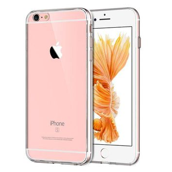 DCCKRQ5 JETech Case for Apple iPhone 6 Plus and iPhone 6s Plus 5.5-Inch, Shock-Absorption Bumper Cover, Anti-Scratch Clear Back, HD Clear