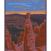 Thor's Hammer, Bryce Canyon, Utah Art Print by Lantern Press at Art.com