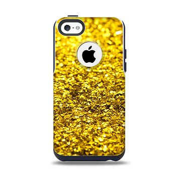 The Gold Glimmer Apple iPhone 5c Otterbox Commuter Case Skin Set