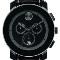 Men's Movado 'Bold' Chronograph Canvas Strap Watch, 44mm