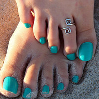 Unique Retro Silver Plated Nice Toe Ring