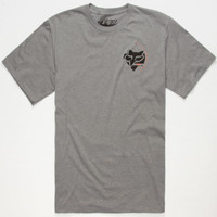 Fox Triple Grip Mens T-Shirt Heather Grey  In Sizes